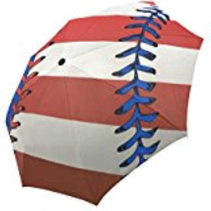 American Flag Baseball Custom Foldable Sun Rain Travel Umbrella 100% Fabric Aluminium High-Quality Foldable Umbrella