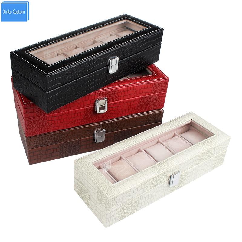 Скидка 15% Коробки и организовать оптовая продажа Элитный бренд антиквариат и современный подарок Для женщин часы шкатулка Craft Leather collecte хран...