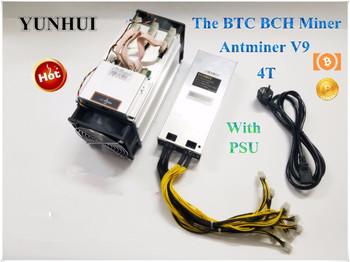 Najnowszy AntMiner V9 4 T S koparka bitcoinów (z zasilaczem) Asic górnik Btc górnik lepiej niż Antminer S7 S9 S9i T9 Whatsminer M3 tanie i dobre opinie AntMiner V9 4T 10 100 1000 mbps 1027W + 10 YUNHUI Stock