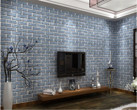Beibehang 3D Retro Chinese Brick Fashion Wall Paper Simulation Brick Personalized Restaurant Store Papel De Parede