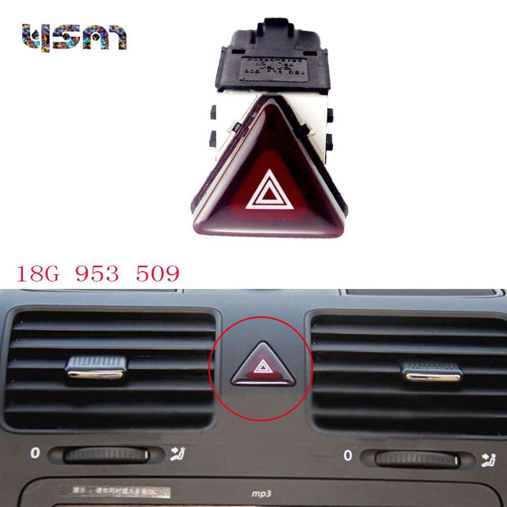 For VOLKSWAGEN GOLF / GTI MK5 2006-2009 Hazard Emergency Warning Switch 18G953509 18G 953 509 1K0 953 509 1K0953509