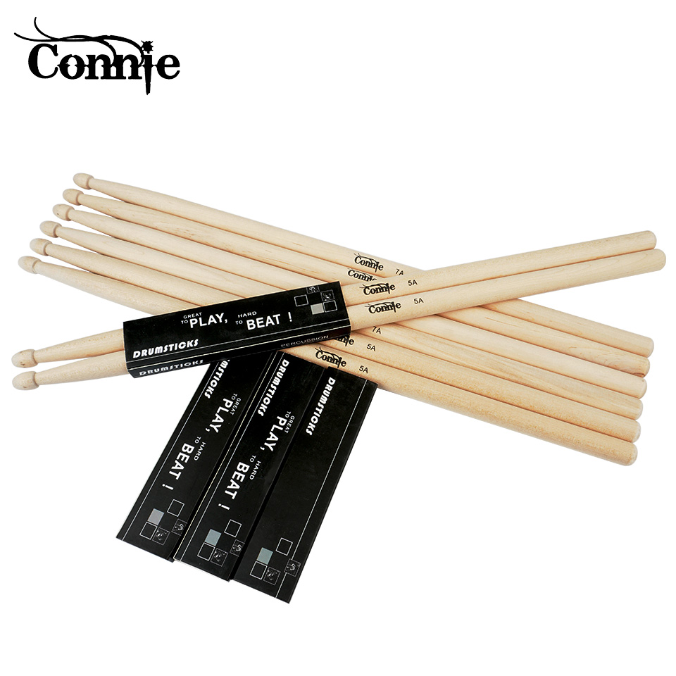 1pair2 pcs drum sticks drumstick 5a 7a anti skid hard professional wooden drum stick musical. Black Bedroom Furniture Sets. Home Design Ideas