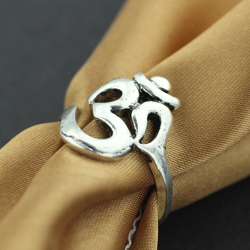 New Hindoo Jewelry OHM Hindu Buddhist AUM OM Ring Hinduism Yoga India Outdoor Sport Women/Men Ring Religious Symbol Jewelry
