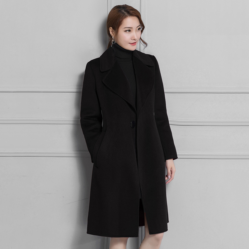 New Women Winter Coats 2018 Ladies Long Sleeves Casaco Turn-down Collar Manteau Femme Hiver Plus Size 3XL Cardigan Coat N2A31A adibo winter jacket women winter coat manteau femme womens winter jackets and coats plus size with large collar casaco 098