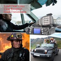 dual band vhf uhf Ham נייד רדיו משדר VHF UHF Mobile Radio Dual Band Quad המתנה משדר רכב עם תכנות Cable & Software (3)