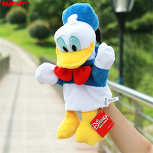 RMDMYC plush puppet toys Parent-child games talk Story animal hand puppets Dolls Mickey Donald duck plush toys brithdays gifts
