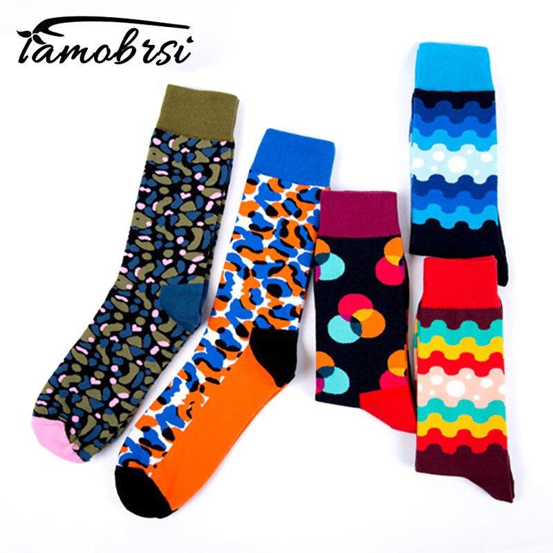 2018 Leopard Print Wave Colorful Street Skateboard Winter Women Happy Socks Funny Socks Thick Warm Personality Men Socks Female