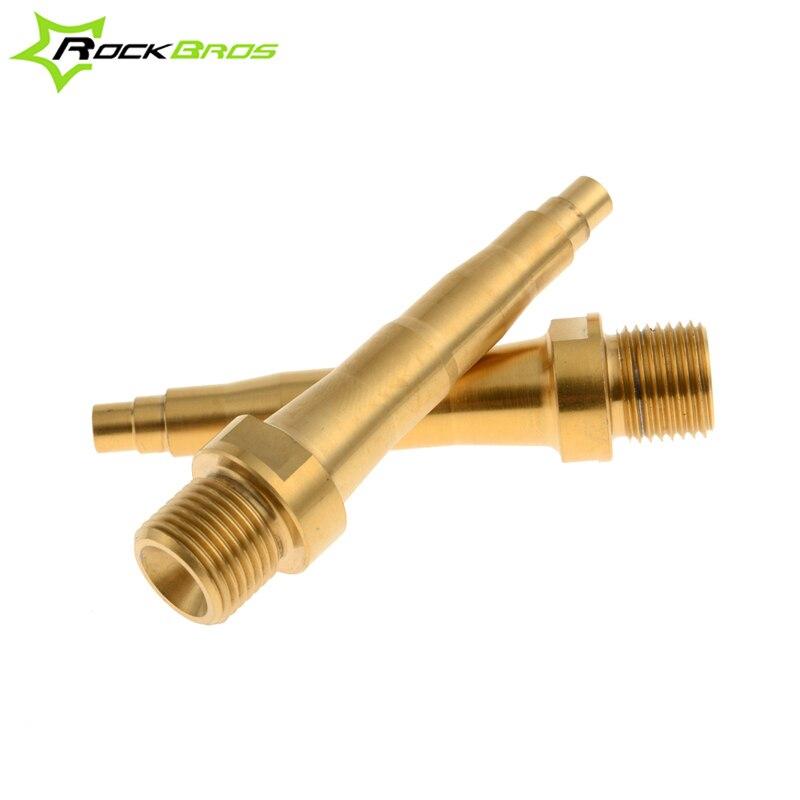 ROCKBROS axe de broche de pédale en titane pour SpeedPlay Zero X1 X2 Action légère or pédales de vélo de Cycle de route vtt portant des pièces de vélo