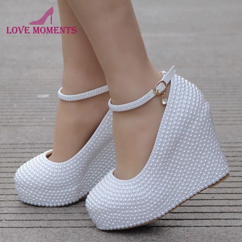 2018 Women Pumps Party Prom High Heels Size 10 Wedge Heel