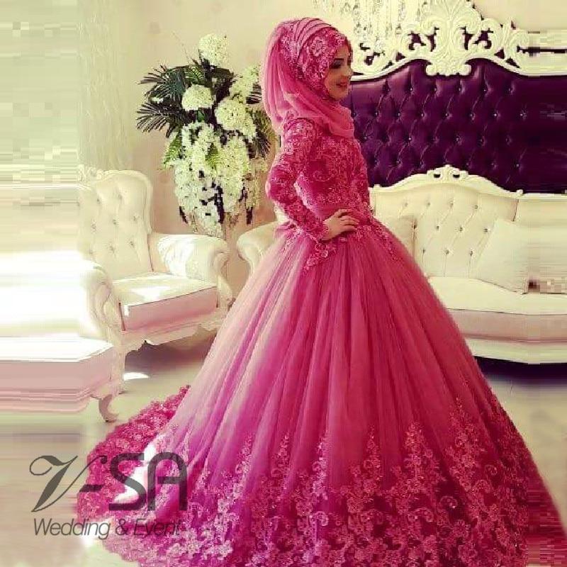Vestido de Boda musulmán Con Hijab 2016 Turco Islámico Árabe ...