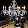 K9 Crystal Chandelier Lustre Crystal Chandeliers 8 Arms Lustres De Cristal Chandelier LED Without Lampshade