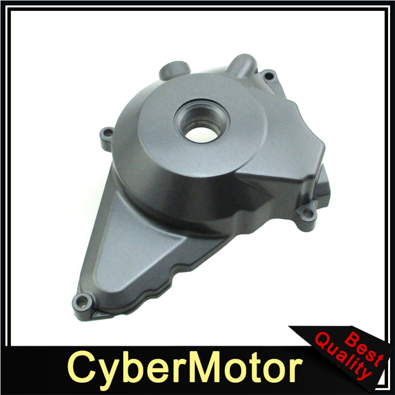Metal Grey Electric Start <font><b>Engine</b></font> Stator Cover For <font><b>Lifan</b></font> 50cc <font><b>70cc</b></font> 90cc 110cc 125cc <font><b>Engine</b></font> Pit Dirt Bike ATV Quad image