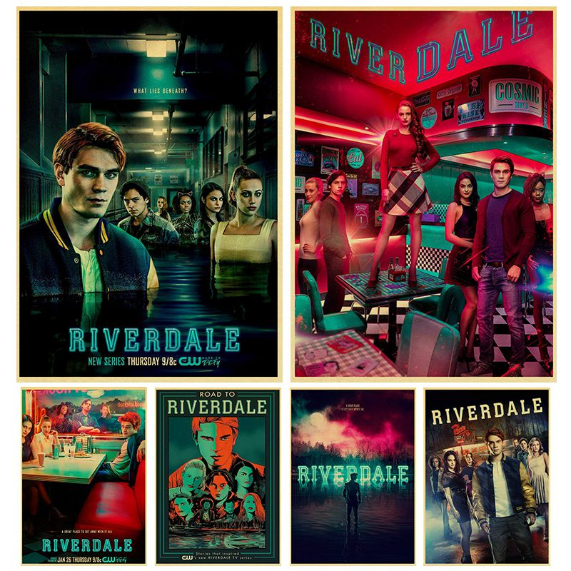 TV Series Riverdale Poster Kraft Paper Art Poster Bar Cafe Vintage High Quality Printing Drawing Core Wall Decorative Painting