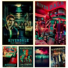 TV Series riverdale poster Kraft Paper art Poster Bar Cafe Vintage High quality Printing Drawing core wall Decorative Painting(China)