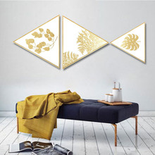 Creative ins Gold foil plant restaurant decoration painting hotel home mural kitchen Hanging