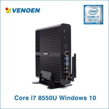 i7 Mini PC Intel Core i7 8550U Fanless Desktop Quad Core HTPC WIFI HDMI DP DDR4 RAM Linux win10 Pro license Computer