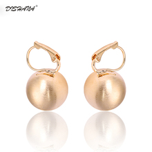 Women's Hook Earring Retro New Style Shining Gold Color Ball Shape Stud Earrings Jewelry Women Birthday Gift(E0267)