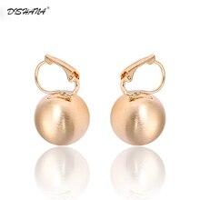 Women's Hook Earring Retro Style Shining Gold-Color Ball Shape Stud Earrings for Women Fashion Jewelry Women Studs Gift(E0267)