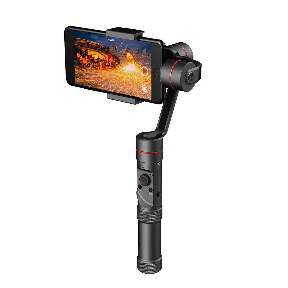Instock Zhiyun Smooth III Smooth 3 3-Axis Brushless Smartphone Handheld Gimbal for GoPro Hero 5 4 3 iPhone 7 6 Plus 5S Samsung yuneec q500 typhoon quadcopter handheld cgo steadygrip gimbal black