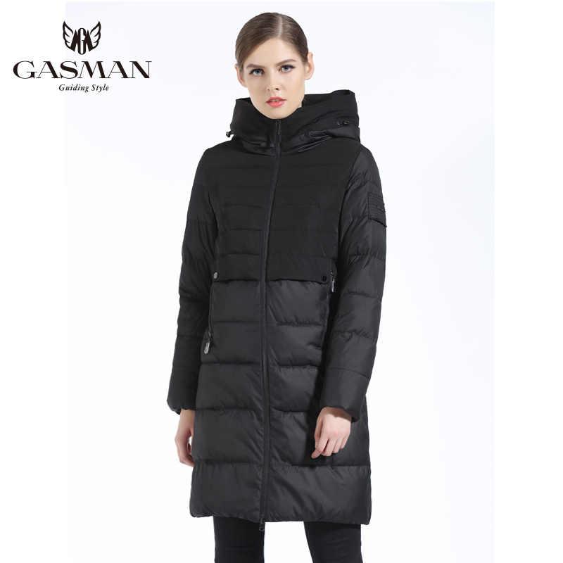 GASMAN 2019 chaqueta gruesa abajo Жеский abrigo largo con capucha mujer chaqueta Parka de Invierno para mujer Chaquetas abajo