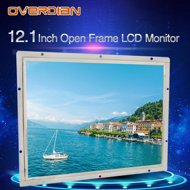 "Image 2 - 12"" 1400*1050 Industrial Lcd Monitor VGA/DVI/USB Interface High Resolution Metal Shell Cool Open Frame Resistance Touchscreen-in Industrial Computer & Accessories from Computer & Office"