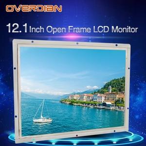"""Image 2 - 12 """"인치 디스플레이 1400*1050 산업용 LCD 모니터 VGA/DVI/USB 인터페이스 고해상도 금속 쉘 쿨 저항 터치 스크린"""