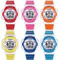 Relógio à prova d' água Crianças Kid Para Meninas Meninos Digital LED Alarm Quartz Data Sports Relógio de Pulso Relógios Presente Relogio montre enfant