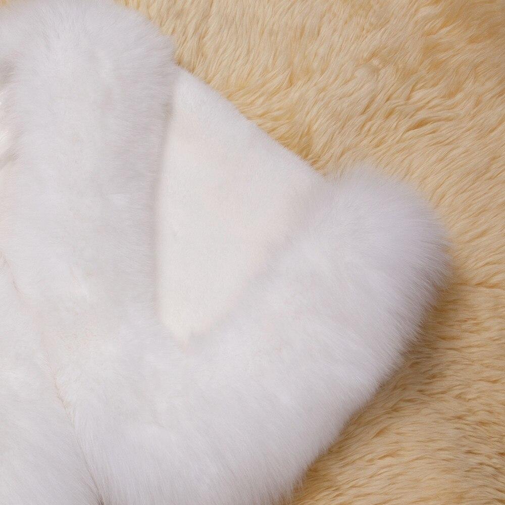 Europe and America autumn and winter new imitation fur bride dress bridesmaid fur shawl cape coat (17)
