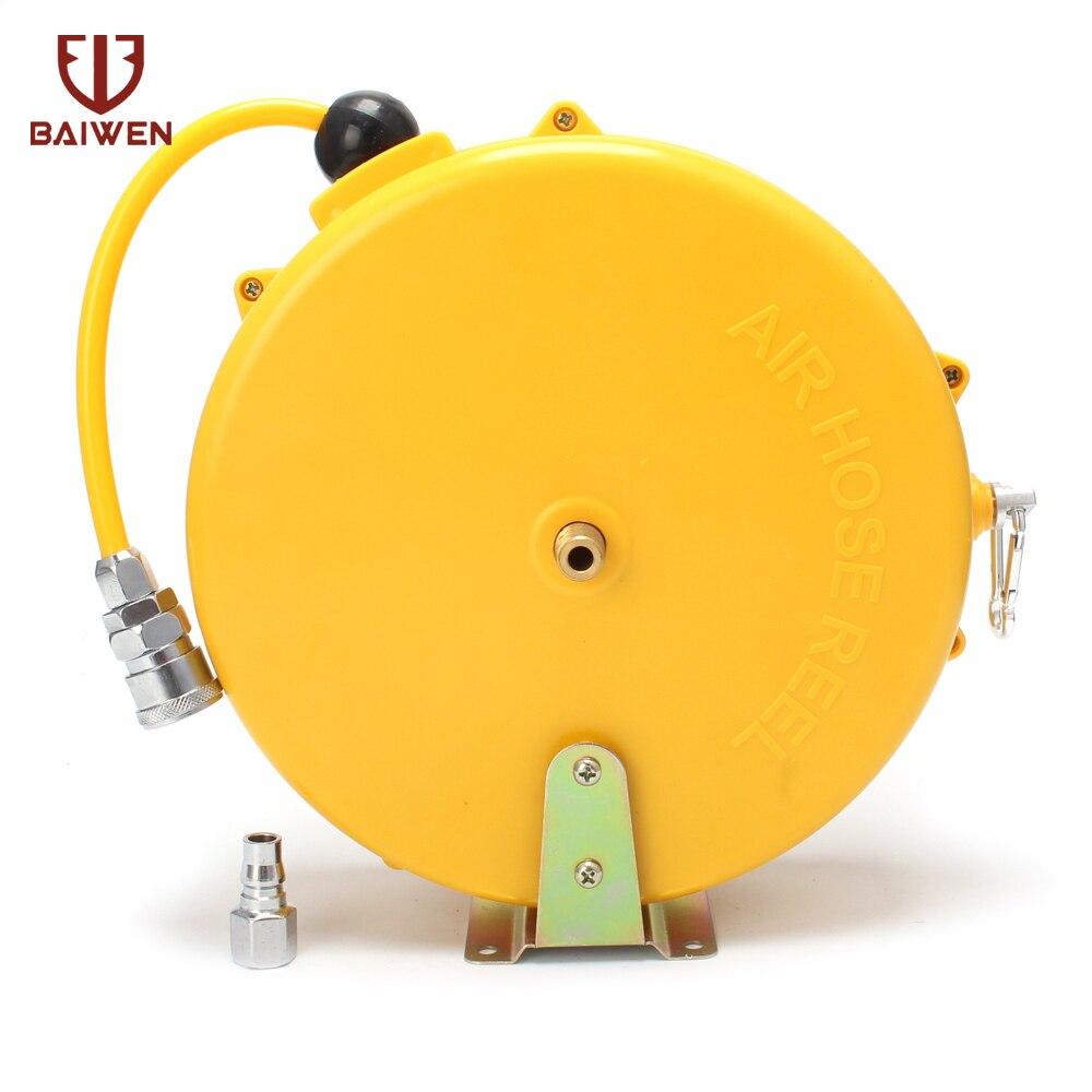 Automatico A Scomparsa Reel Telescopica Tamburo Tubo PU8 * 5 10*6.5 12*8 Tubo Pneumatico Automobilistico Aria DELL'UNITÀ di elaborazione tubo