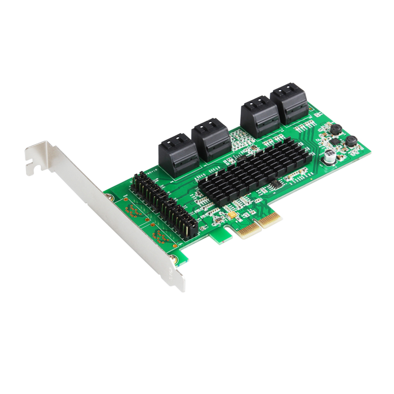 SATA III 6G 8 Port PCI Express Controller Card PCIe 2.0 x2 with Low Profile Bracket адаптер dell 403 bbqc boss controller card low profile