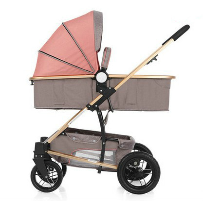 High landscape stroller can sit can lie baby cart winter and summer dual-use portable buggies suspension pram