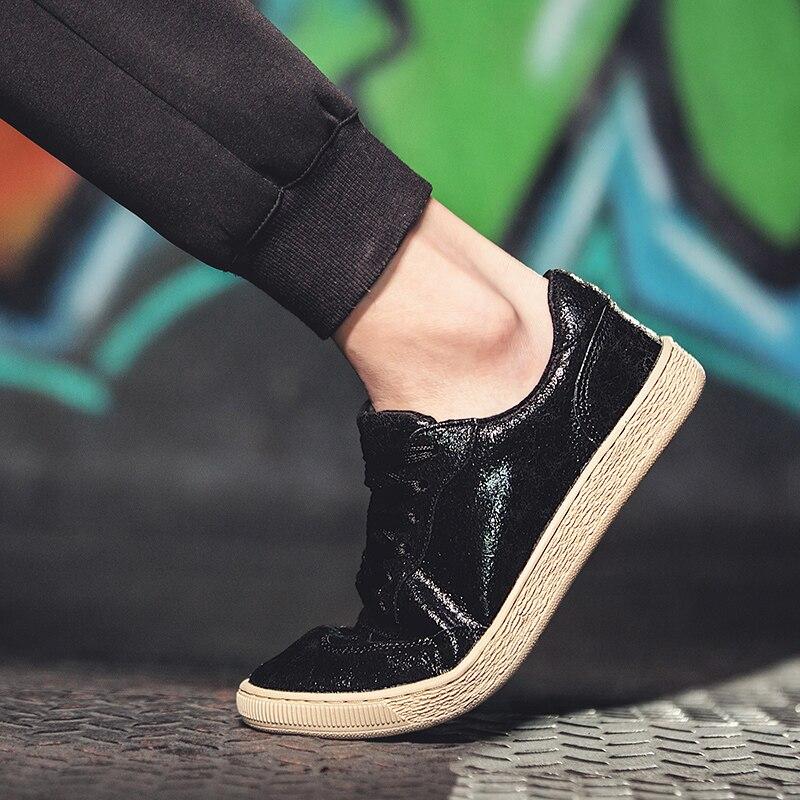 Black Sapato Baixo Homens O Dos Sapatos Impressão Harajuku 20018 top De khaki Vintage Coreano Personalizado Do Ulzzang Respirável Versão 2 Skate Novos red Tendência qXxCa1