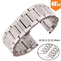 Metal Watch Bracelets Men High Quality Stainless Steel 18 20 21 22 23 24mm Watchbands Fashion