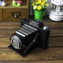 Retro Camera Model Metal Craft Home Decoration Antique Camera Model Figurine Miniature Photography Props