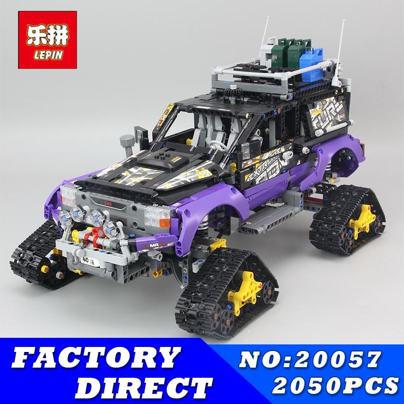 Lepin 20057 2050Pcs Genuine Technic Mechanical Series The Ultimate Extreme Adventure Car Set Building Blocks Bricks Toys 42069 2050pcs 2in1 techinic extreme adventure