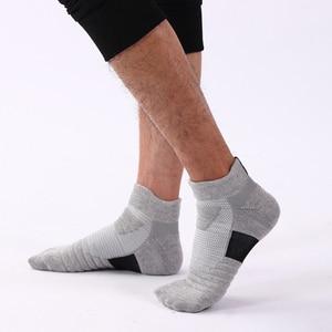 Image 5 - LifeWheel erkek çorapları spor pamuk çorap ter nefes Deodorant havlu alt uzun tüp kısa çorap 6 çift/grup