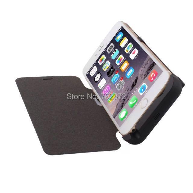 10000 мАч питания чехол для apple , iPhone 6 плюс 5.5 дюйм(ов) резервная батарея чехол искусственная кожа чехол с крышкой