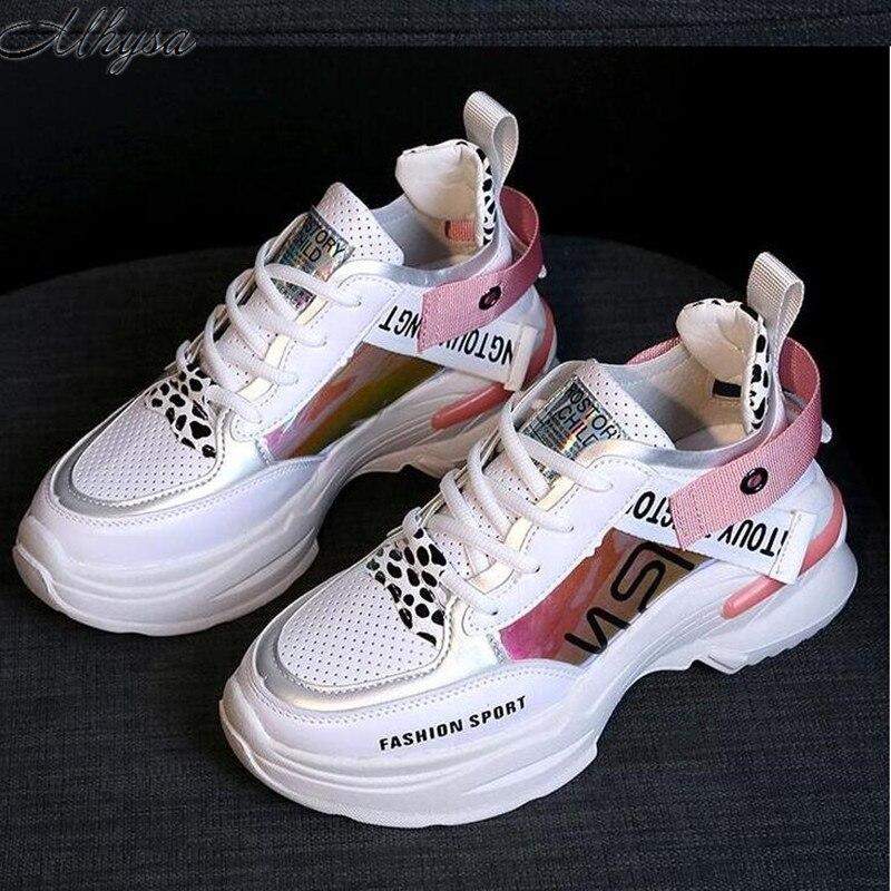 €14.76 40% de réduction|Mhysa 2019 Nouveau Printemps Mode Femmes chaussures décontractées Confortable chaussures à semelles compensées baskets pour