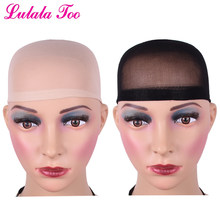 2 Pcs Wig Caps Neutral Nude Beige Stocking Flesh Color Stretchy Black Nylon Hair Net Close End Elastic For Making Wig Free Size(China)