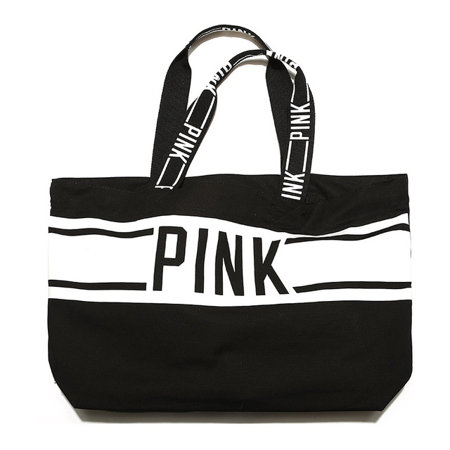 5566812ad93b crossbody handbags for women 2018 CANVAS TOTE BAG LIMITED EDITION PINK  STRIPED VS weekend travel beach