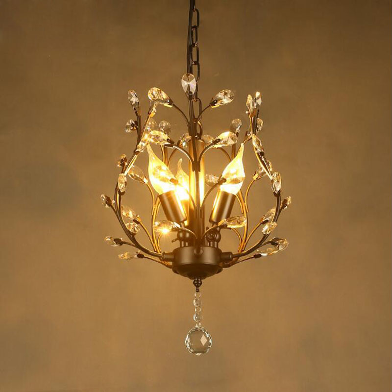 American chandelier retro country wrought iron crystal lamp bronze led balcony aisle corridor entrance crystal lamp fixture wrought iron chandelier island country vintage style chandeliers flush mount painting lighting fixture lamp empress chandeliers