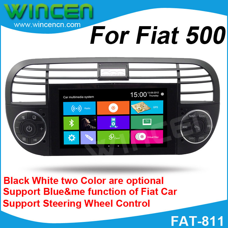 car dvd gps player for fiat 500 support gps dvd ipod bt. Black Bedroom Furniture Sets. Home Design Ideas