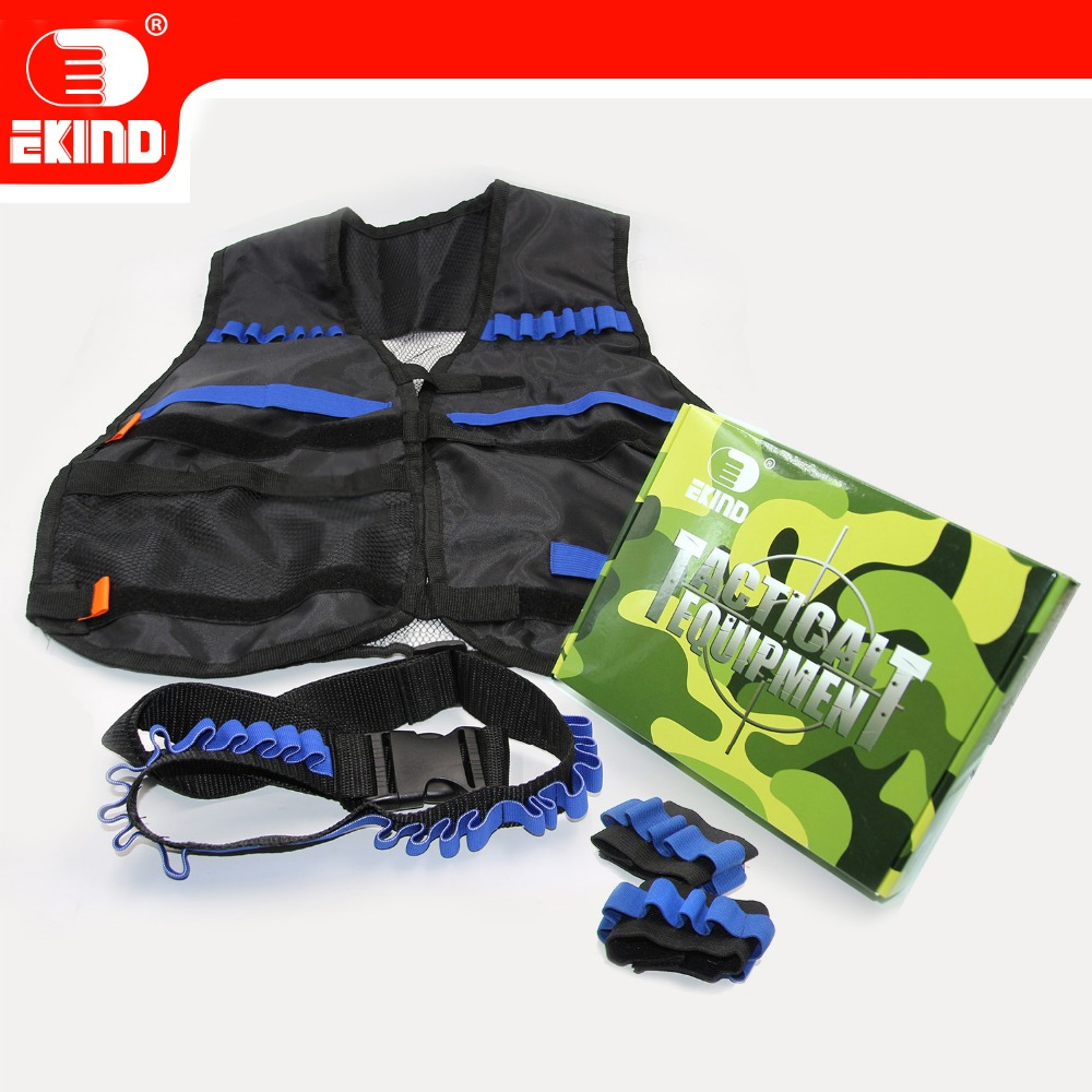 Black Tactical Equipment Of EKIND Kit For Nerf N-strike Elite
