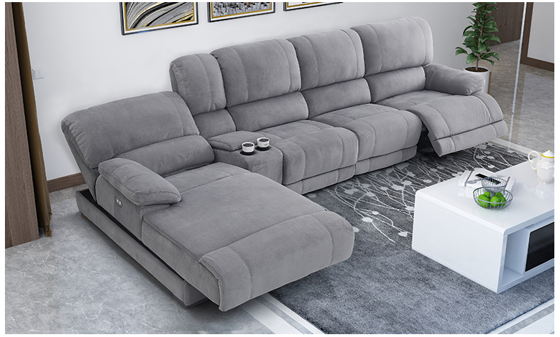 Furniture Sofa-Set Puff Couch Electric-Recliner Living-Room Alon Canape Fabric Asiento