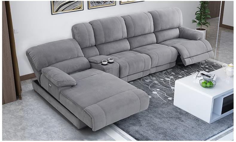 Fabric Sectional Sofa Electric Recliner  Living Room Sofa Set Furniture Alon Couch Puff Asiento Muebles De Sala Canape Sofa Cama