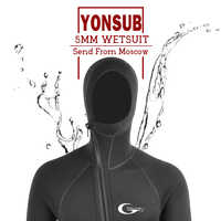 YONSUB Scuba Front Zipper 5MM Long or Short Sleeves Neoprene Men Diving Snorkeling Wetsuit Underwater Hunting Surfing Swimsuit