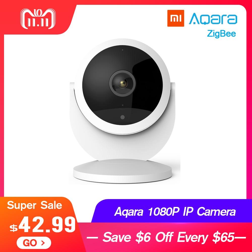 US $42 49 |Xiaomi Aqara 1080P IP Camera 180 Degree Gateway Edition Function  Night Vision Remote Viewing Cloud Storage ZigBee for Micro Card-in