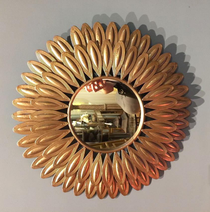 flor de sun espejos decorativos decoracin del hogar espejos de pared de televisin de fondo decoracin