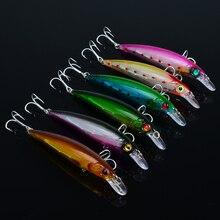 5 pièces appâts de pêche méné Wobblers en plastique dur appât Isca artificiel Pesca manivelle attirail de pêche faux leurre 110mm 13.6g