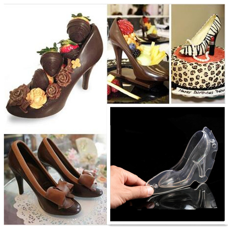 4fe05628ecdd Cake Tools DIY 3D High Heels Shoe Chocolate Mold